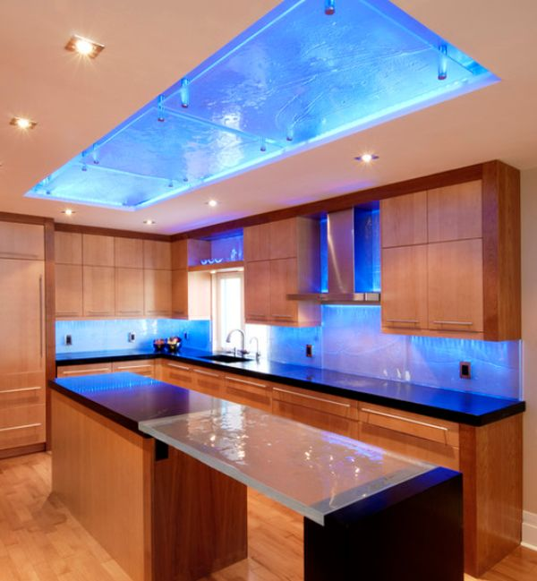 Image of: kitchen lighting fixtures led