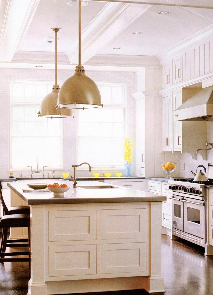 Image of: kitchen lighting fixtures over island