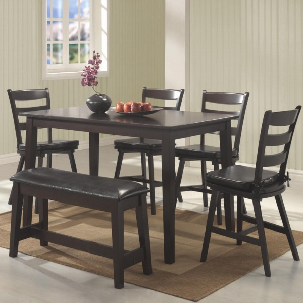 Image of: kitchen table bench and chairs