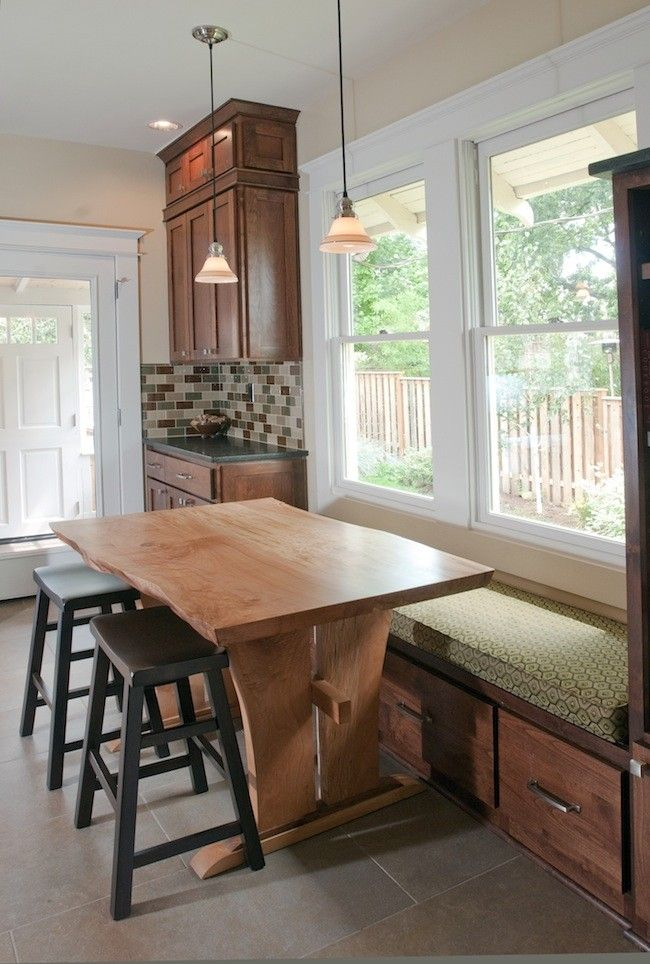 Image of: kitchen table bench seating