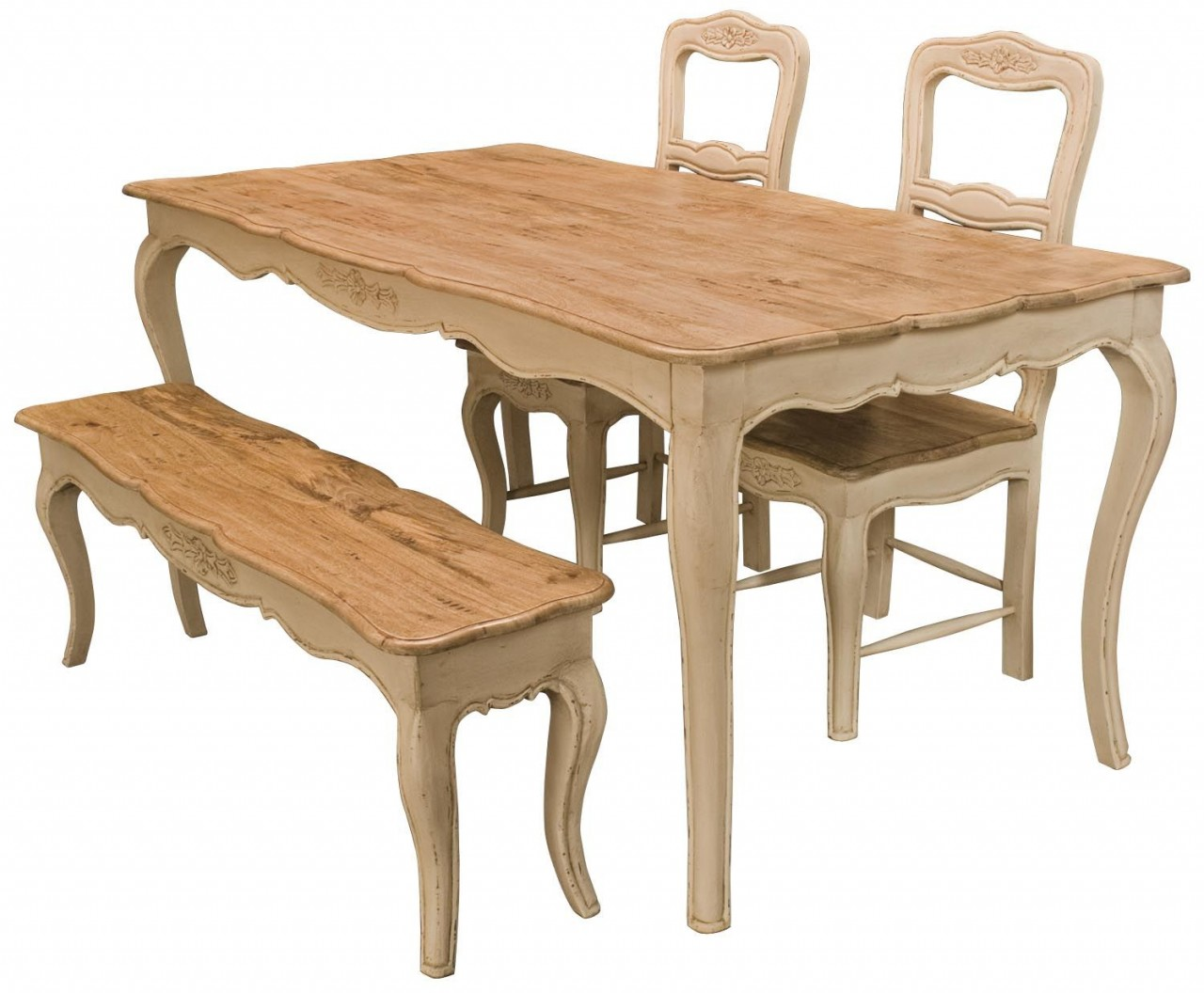 Image of: kitchen table benches wood