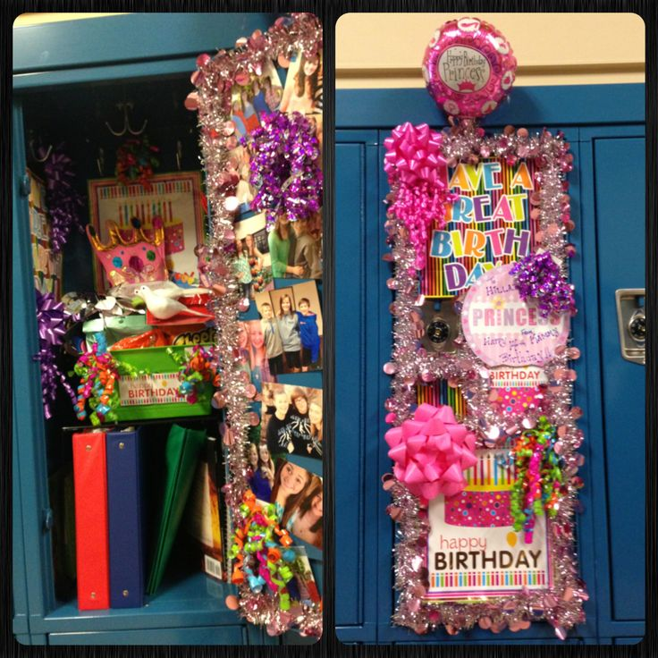 locker decoration birthday
