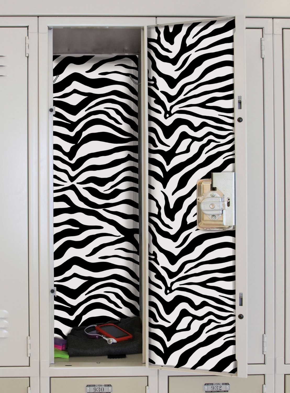 Image of: locker lookz black zebra