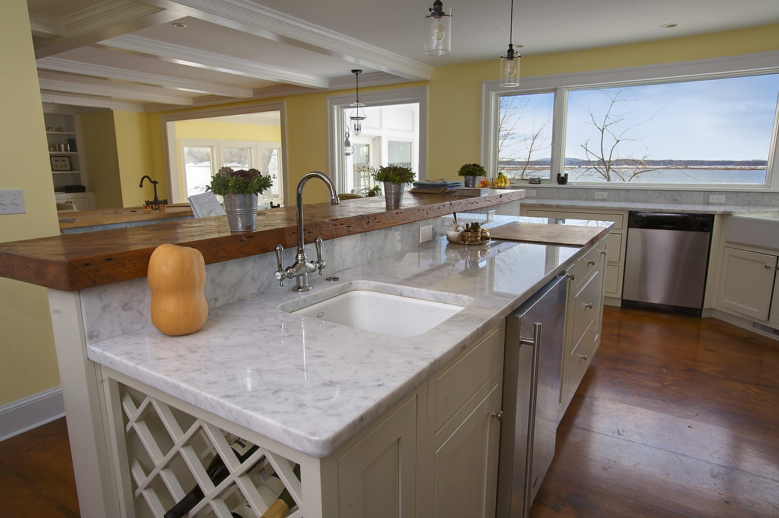 Image of: marble kitchen countertops cons