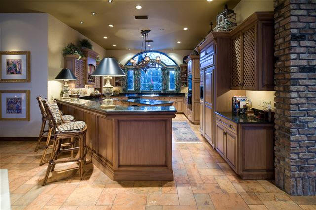 Image of: mediterranean villa kitchen and dining