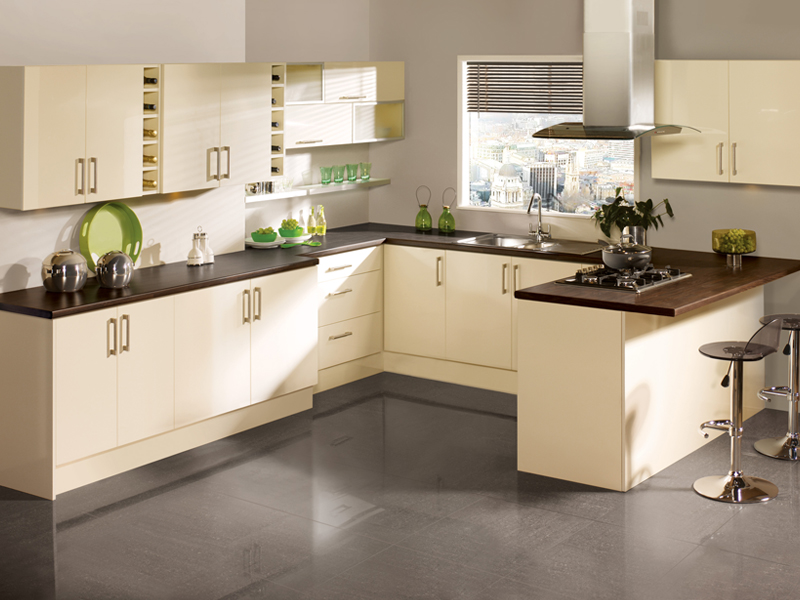 modern kitchens cream