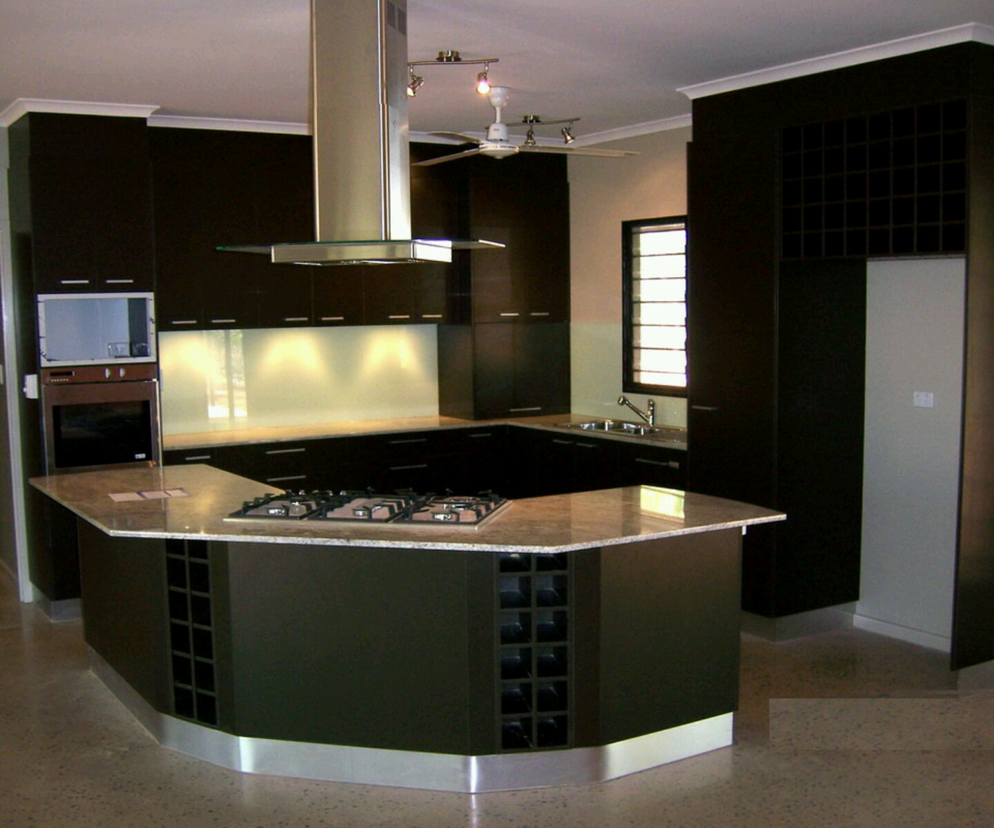 Image of: modern kitchens dark cabinets