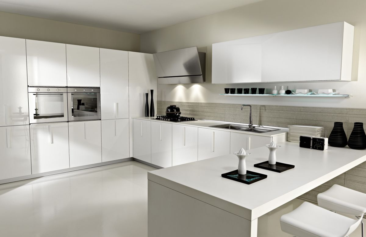 Image of: modern kitchens white