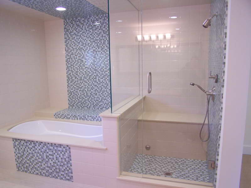 Image of: mosaic tile patterns bathroom