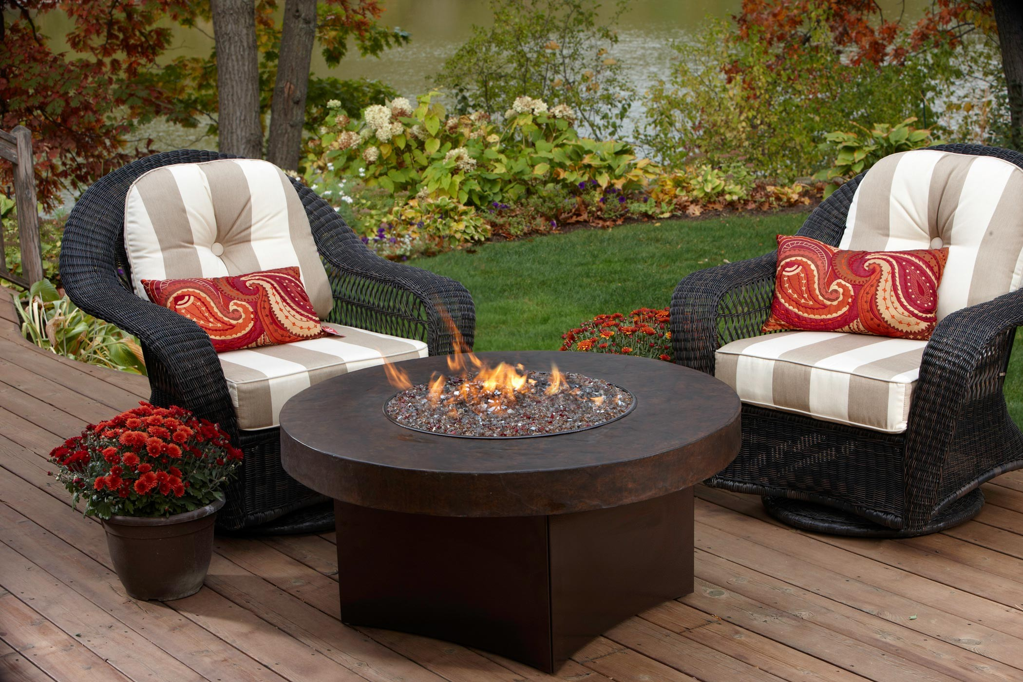 Image of: natural gas fire pit table
