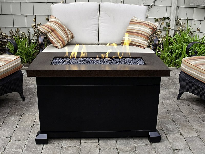 Image of: outdoor gas fire pit tables