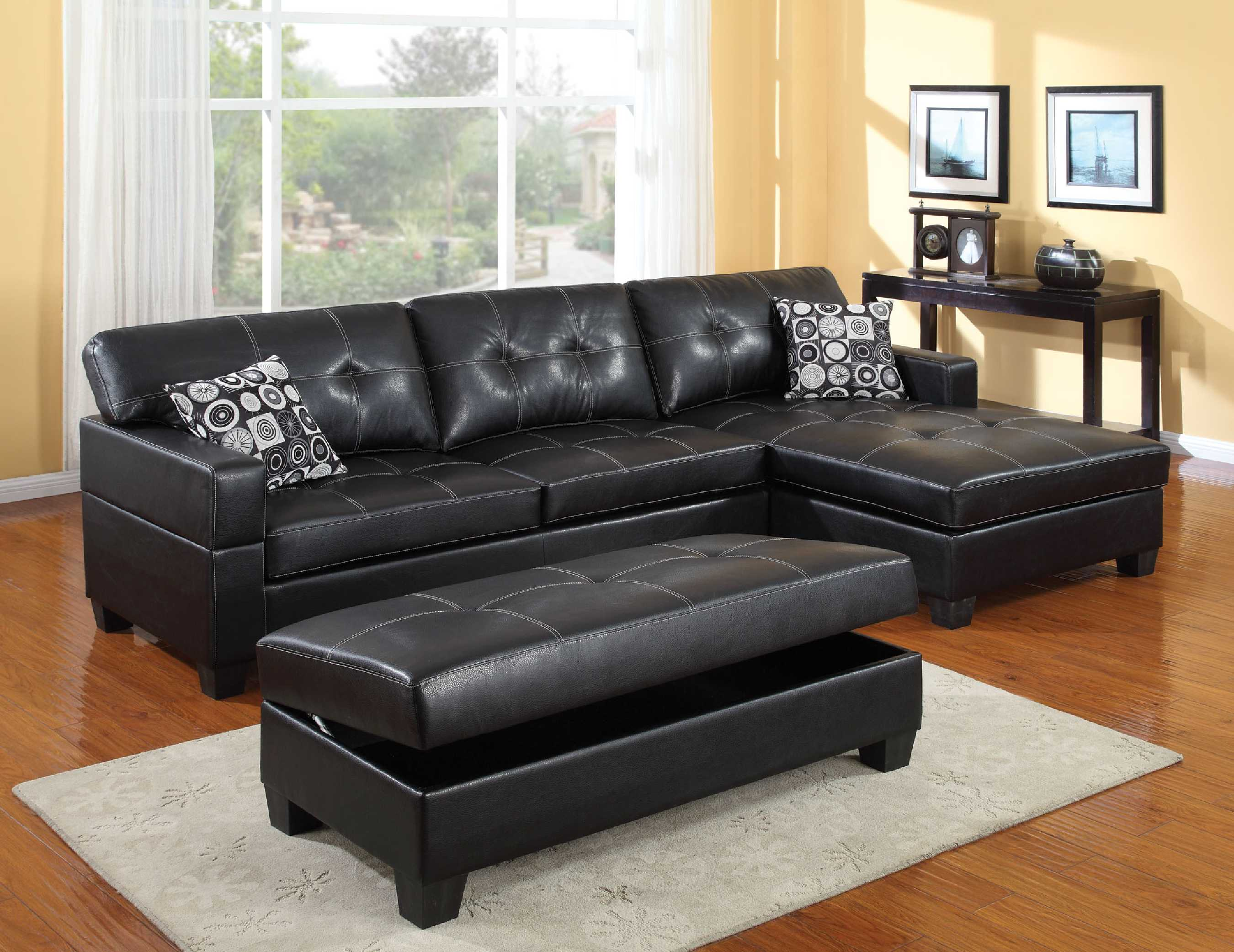 oversized black coffee table