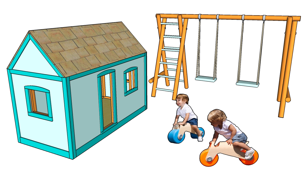 Image of: playhouse plans and designs free