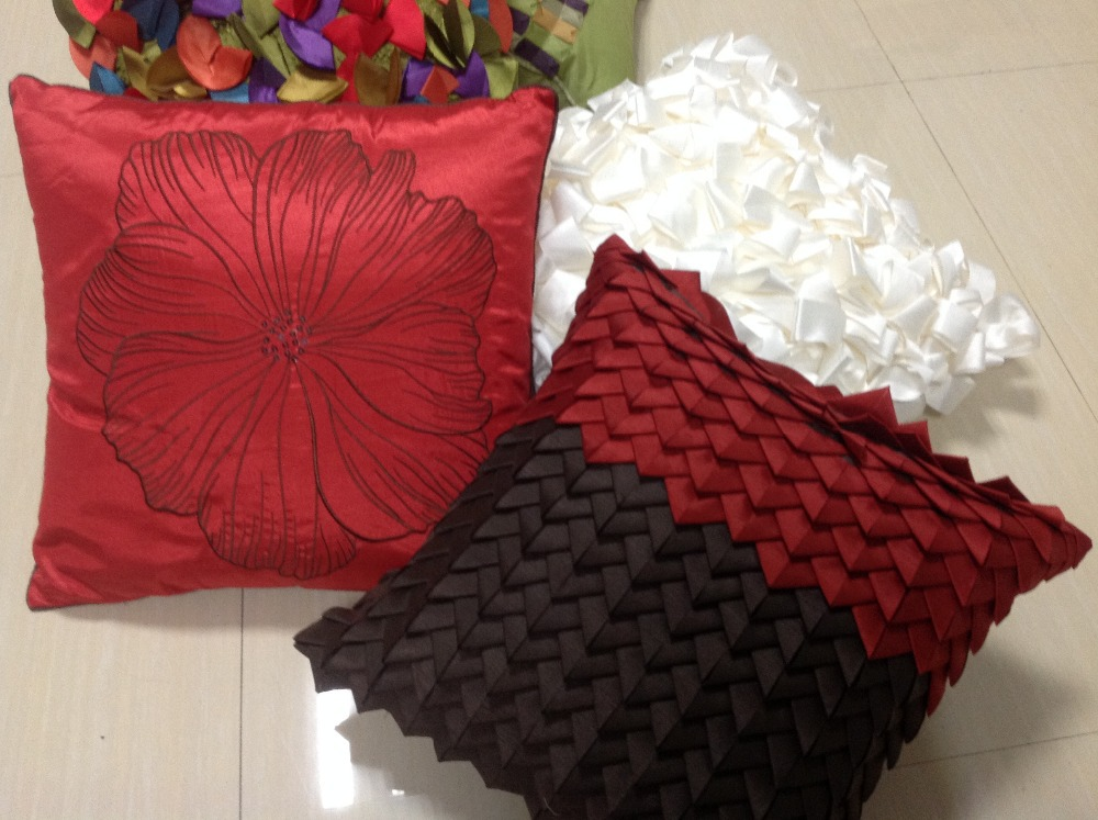 Image of: red black white decorative pillows