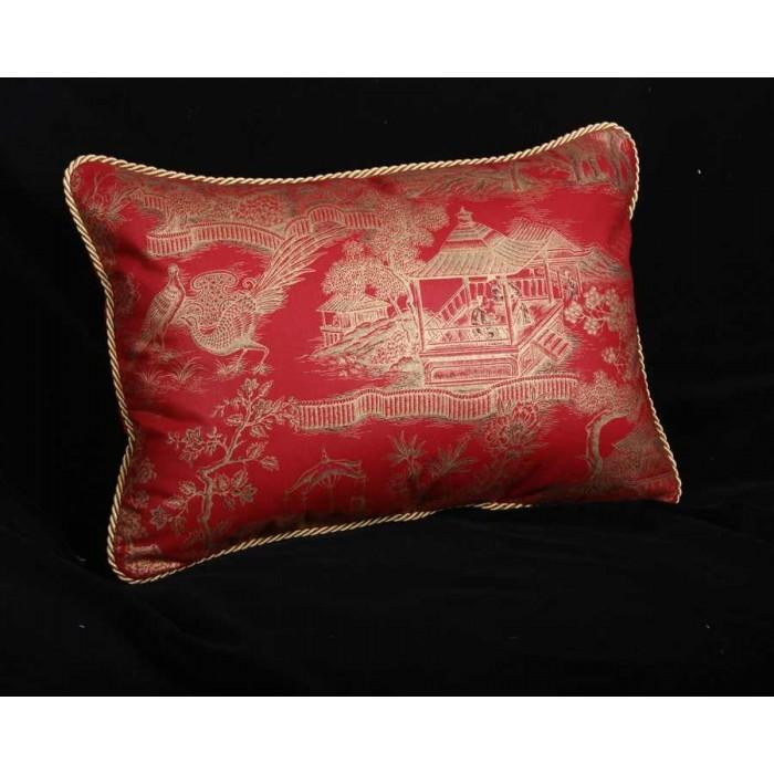 red throw pillows uk