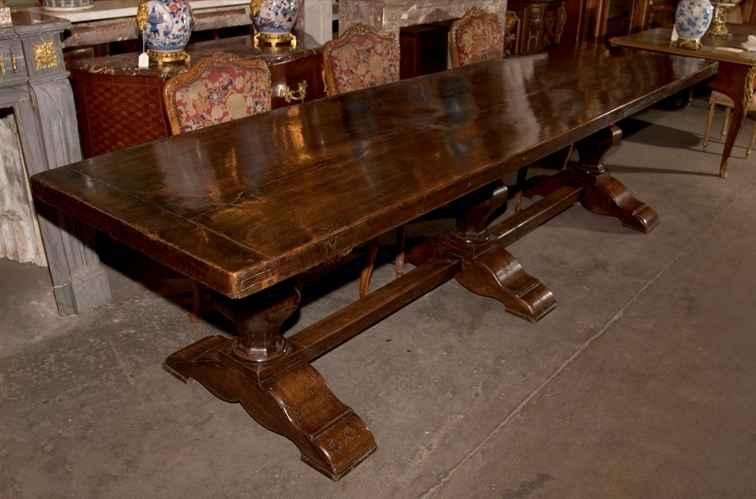 Image of: refectory table antique