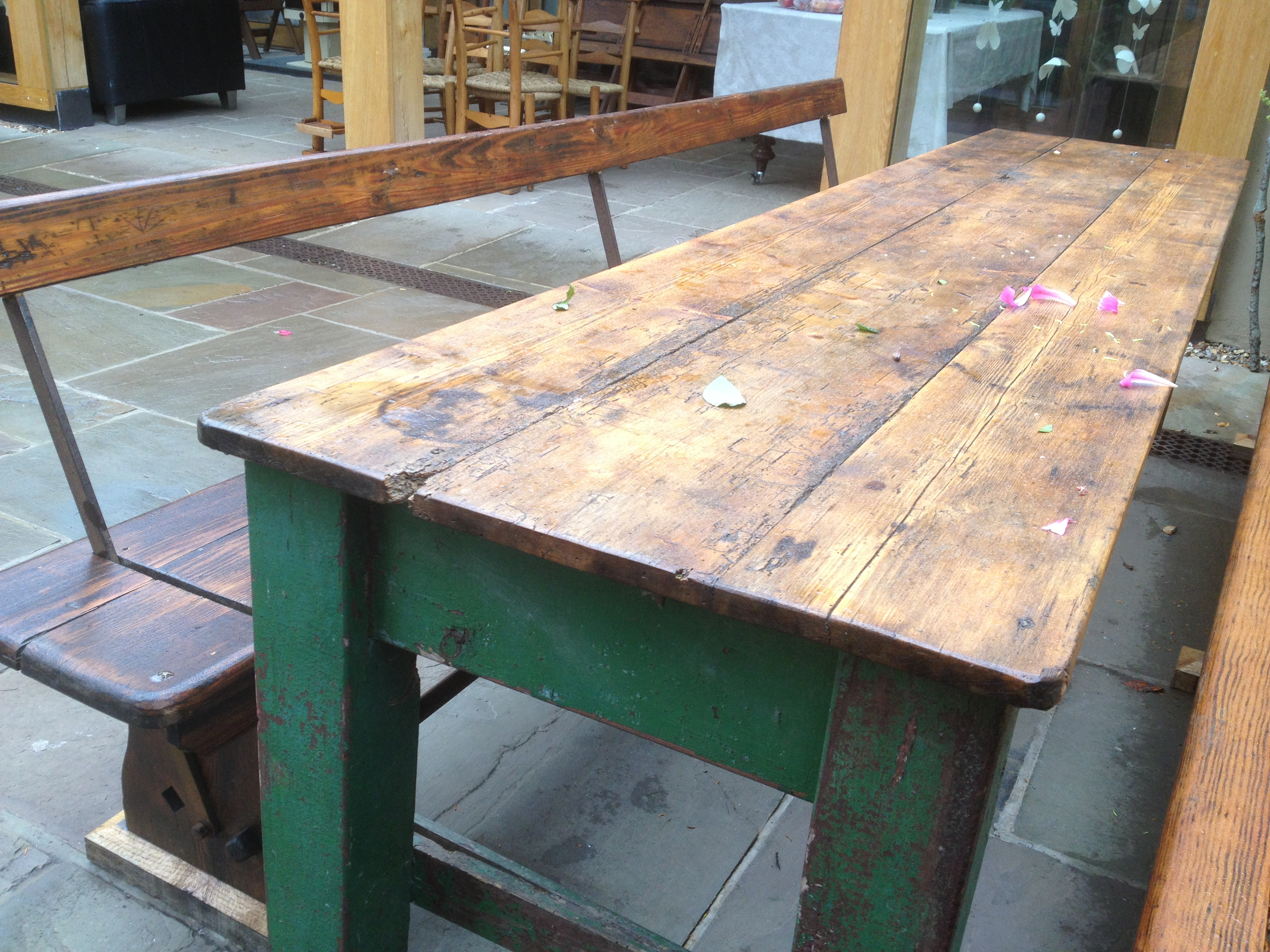 Image of: refectory table bench