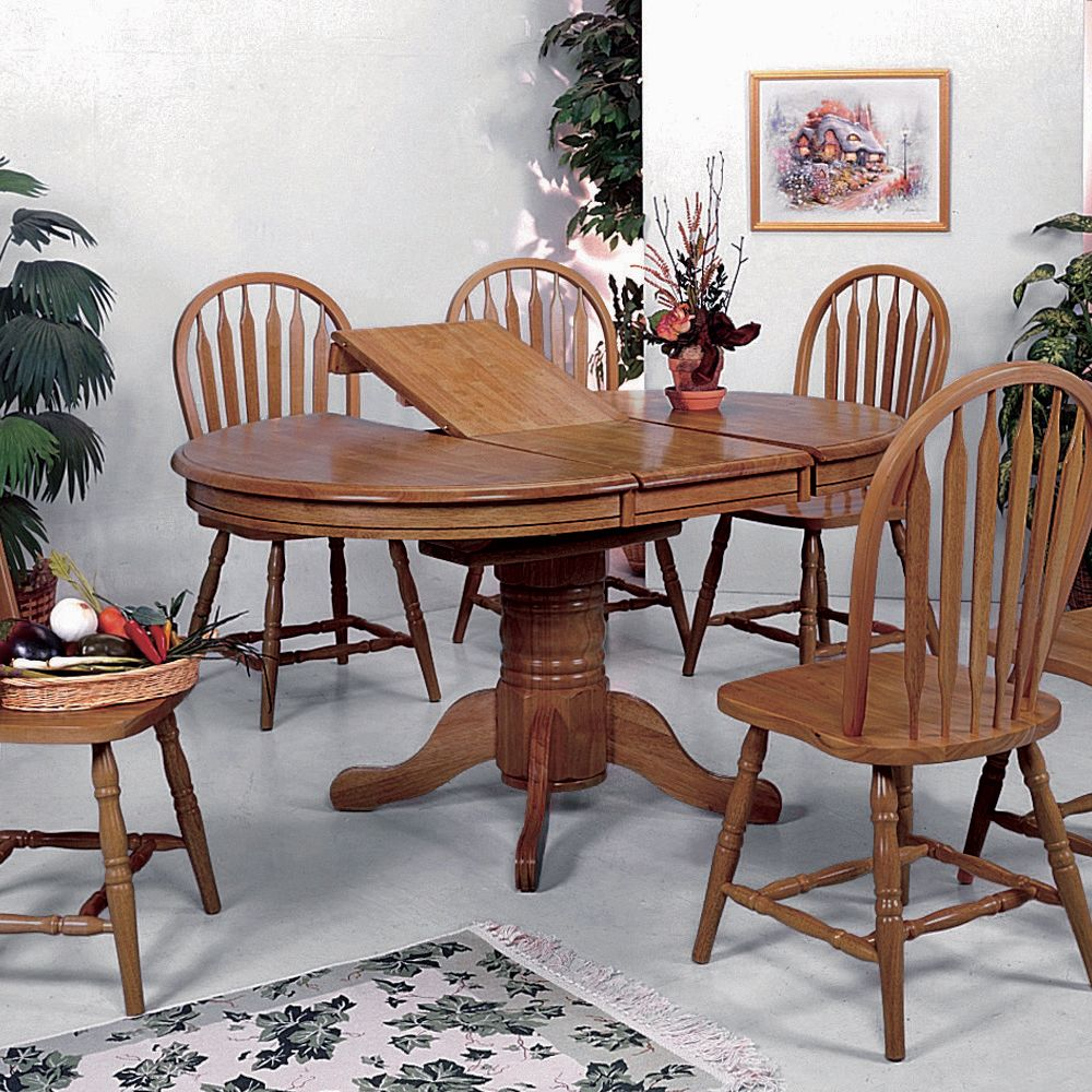 Image of: round dining table with butterfly leaf