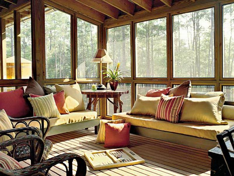Image of: screen porch decorating ideas