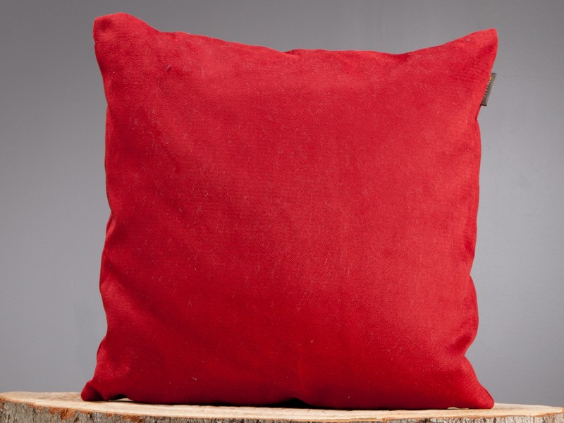 Image of: simple red decorative pillows