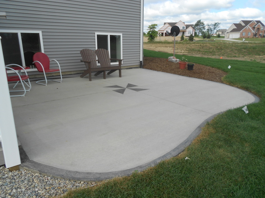 Image of: small concrete patio designs