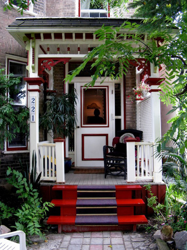 Image of: small porch decorating ideas