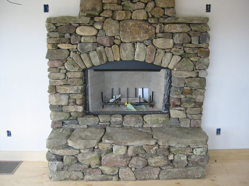 Image of: stone fireplace design