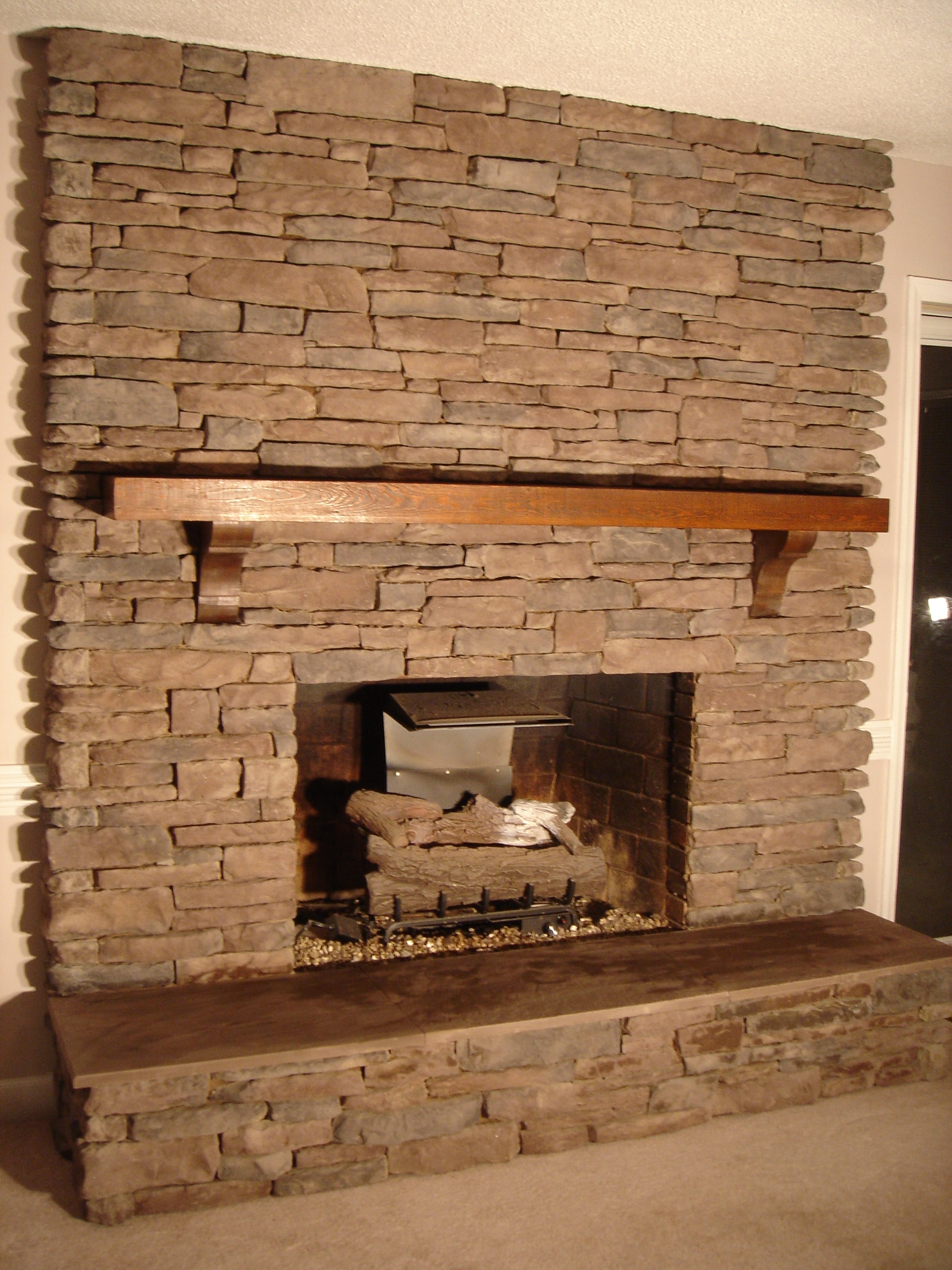 Image of: stone fireplaces designs
