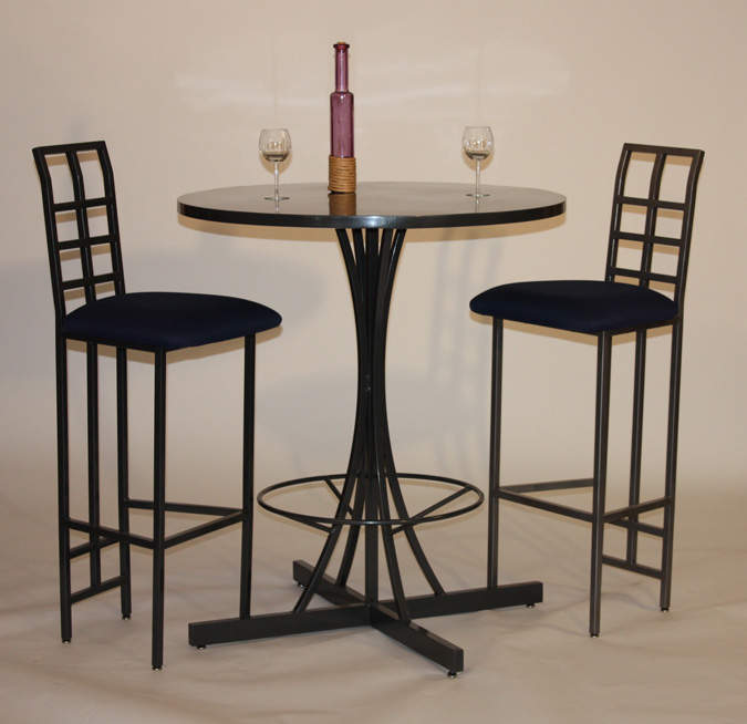 Image of: tall bistro kitchen table and chairs