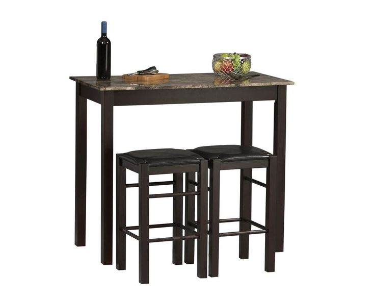 Image of: tall kitchen table with bar stools