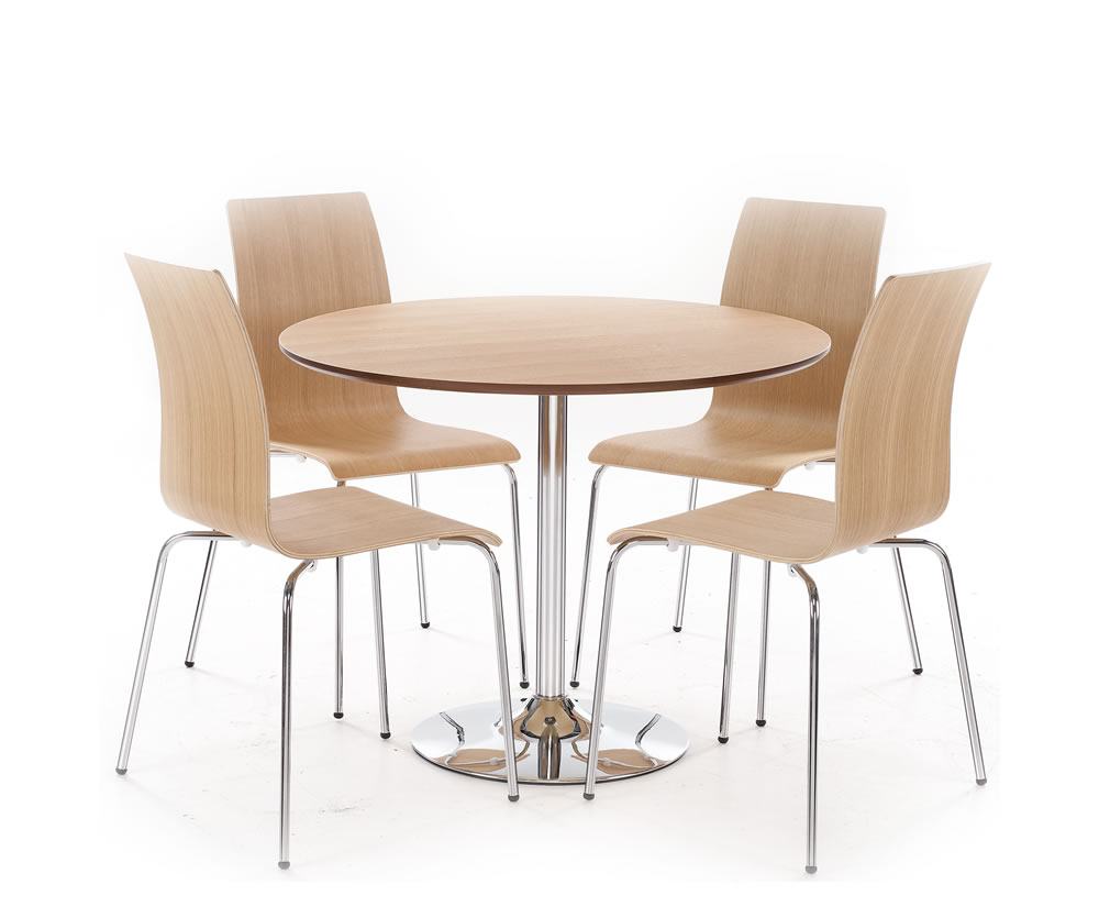 Image of: tall round kitchen table and chairs