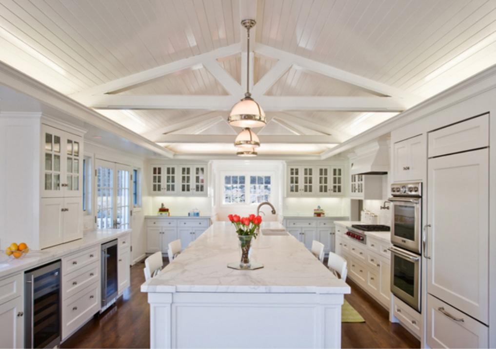 Image of: white elegant kitchens
