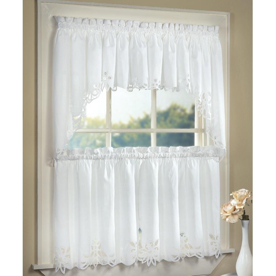 white kitchen curtains