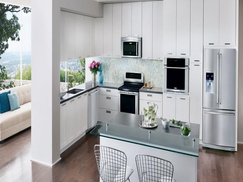 Image of: white kitchens appliances