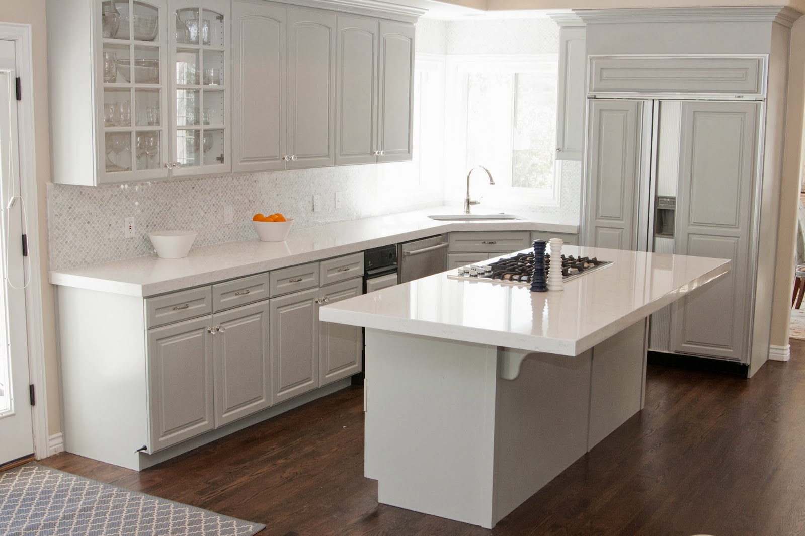 Image of: white kitchens countertops