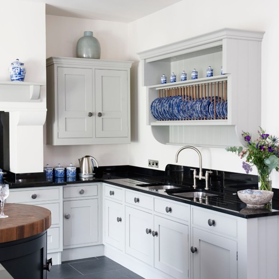 Image of: white kitchens country