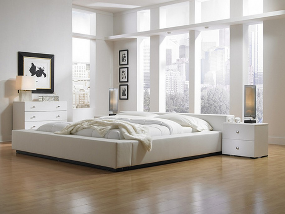 Image of: wood floor bedroom decor ideas