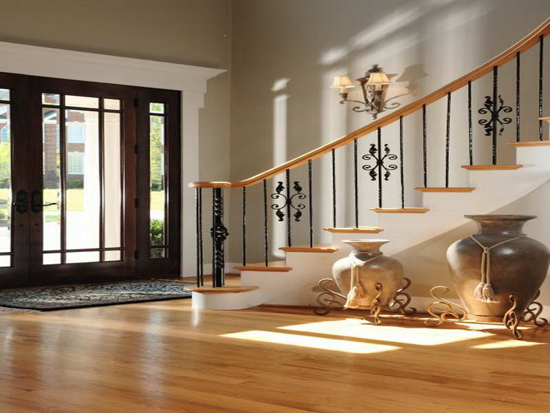 Image of: wood floor decorating ideas