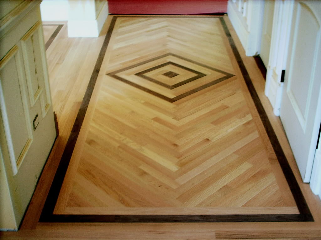 Image of: wood floor inlay ideas