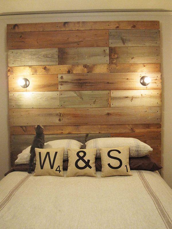 Image of: wood headboard designs