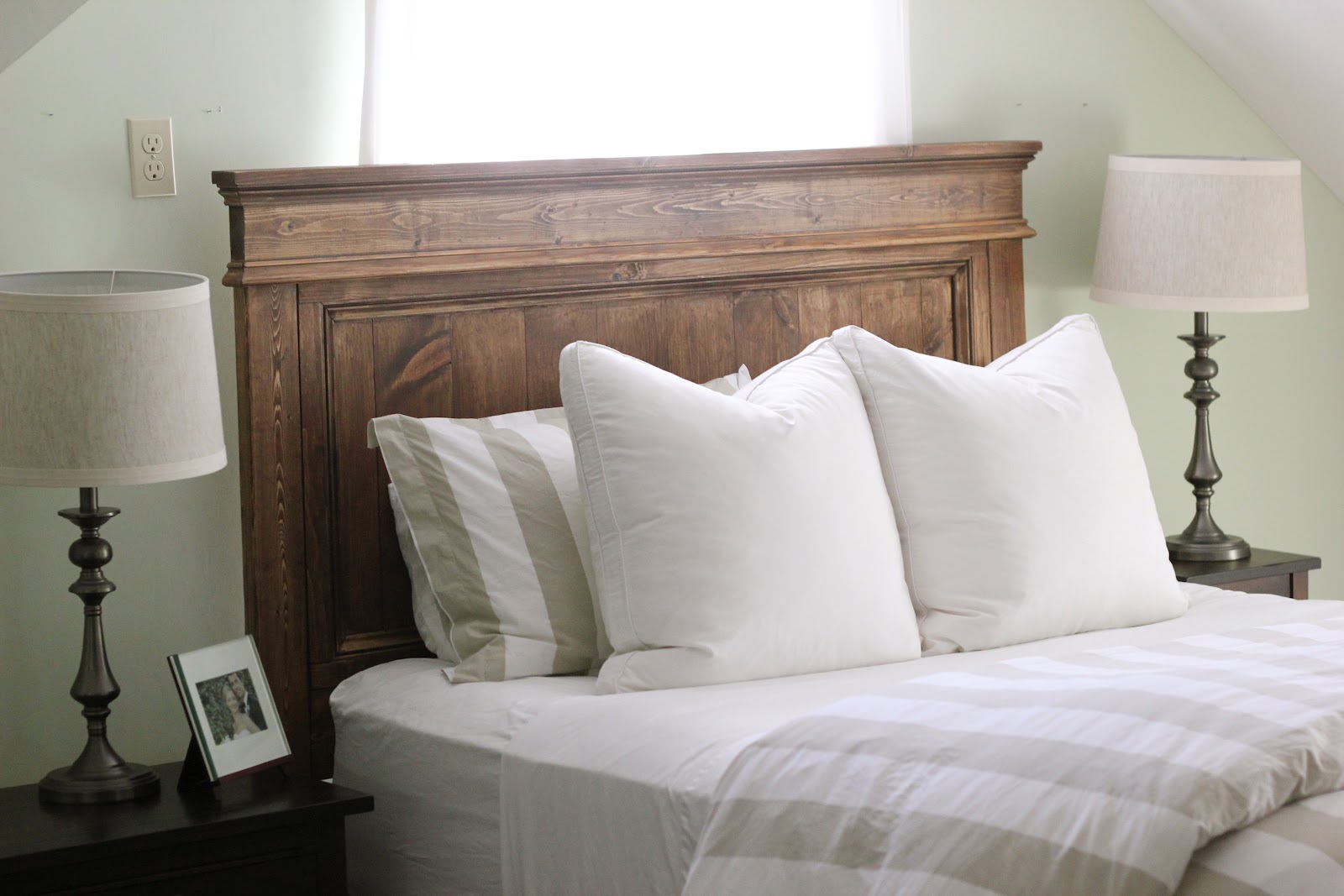 Image of: wooden headboard designs