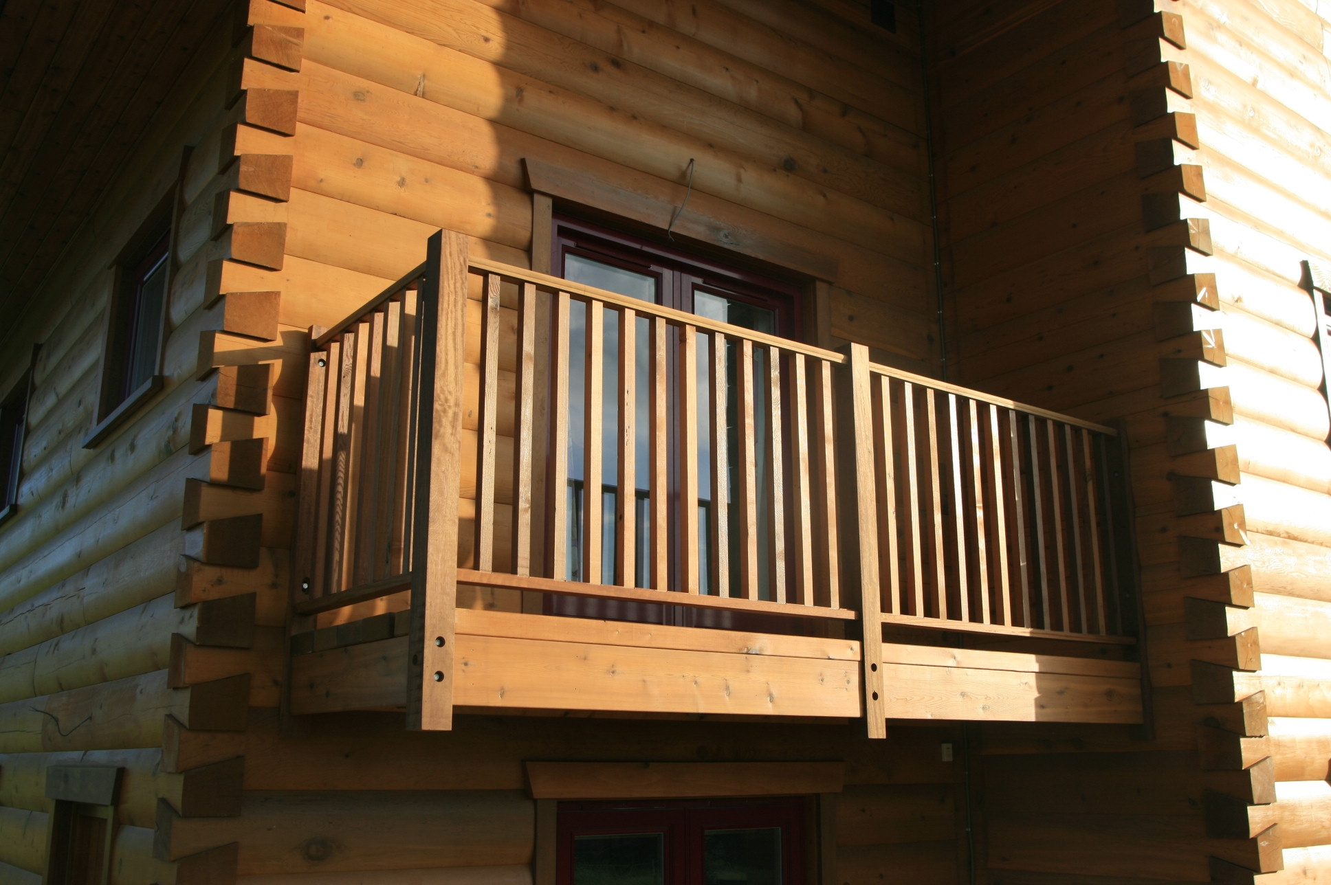 Image of: wooden porch railing designs