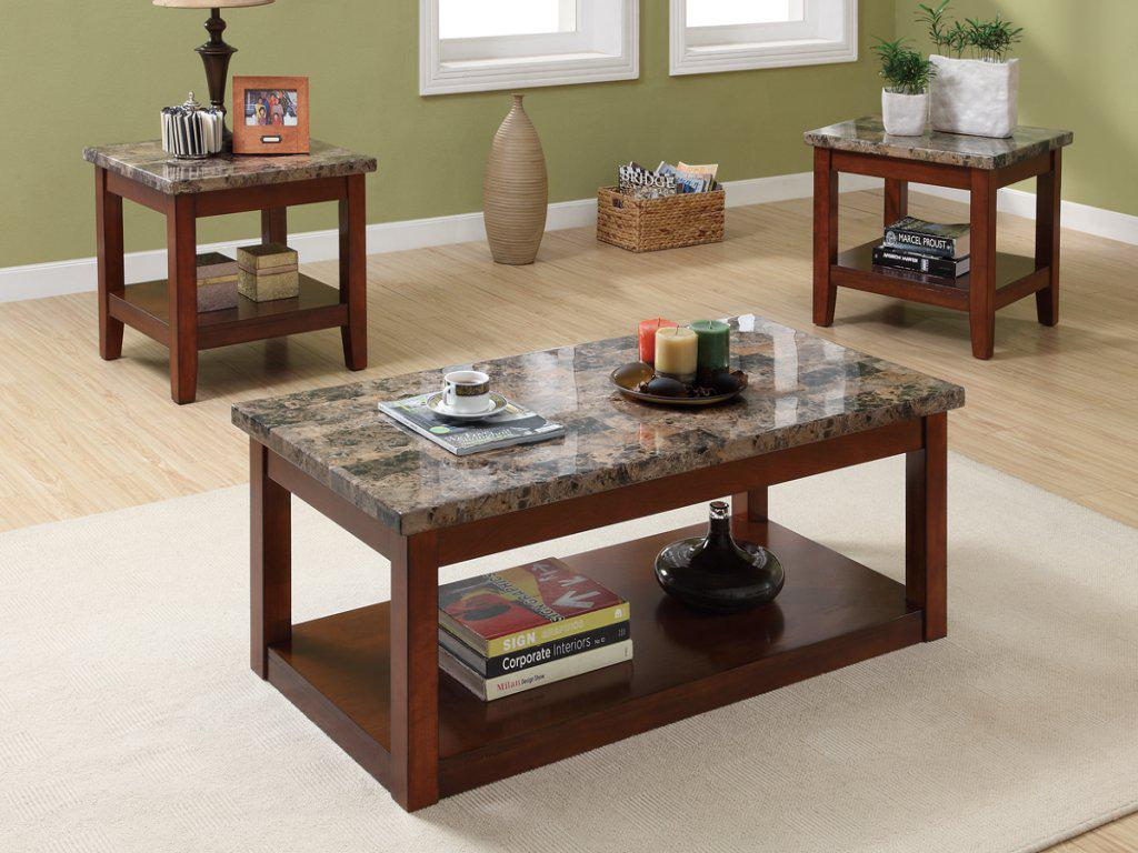 Image of: Granite Coffee Table Set