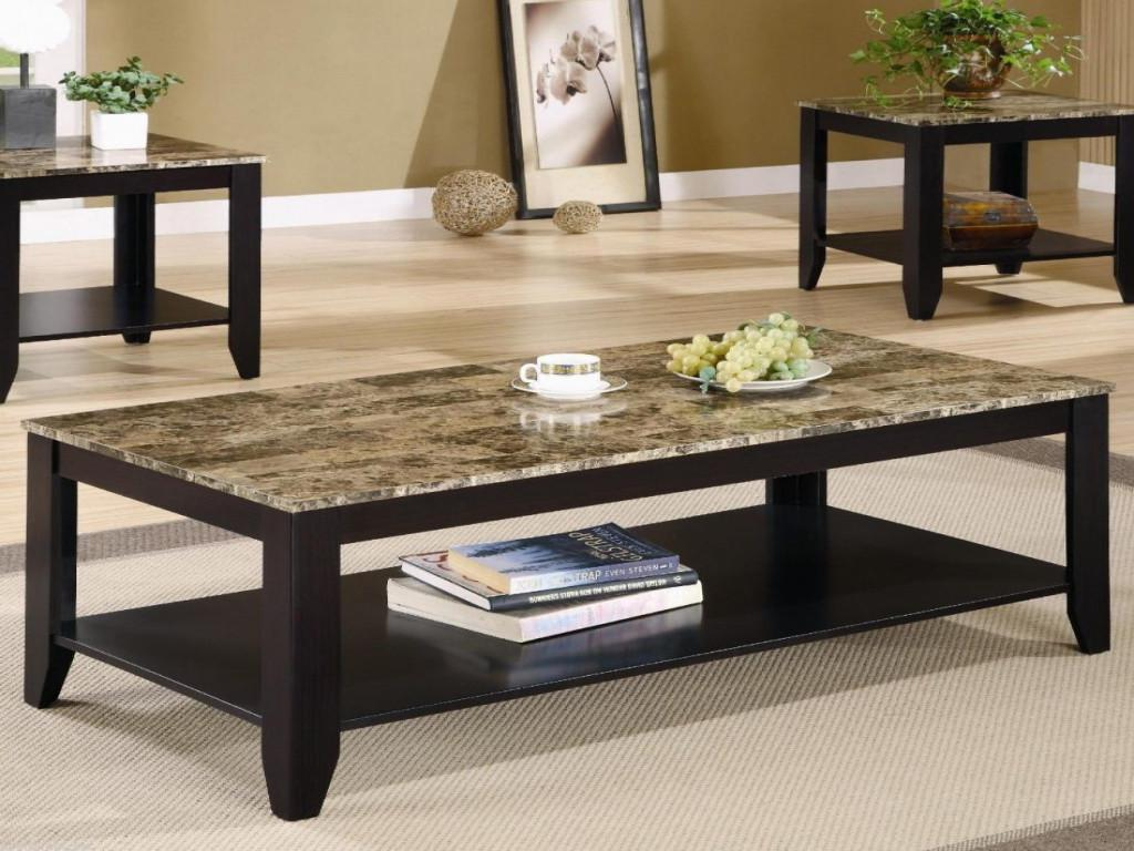 Image of: Iron And Granite Coffee Table