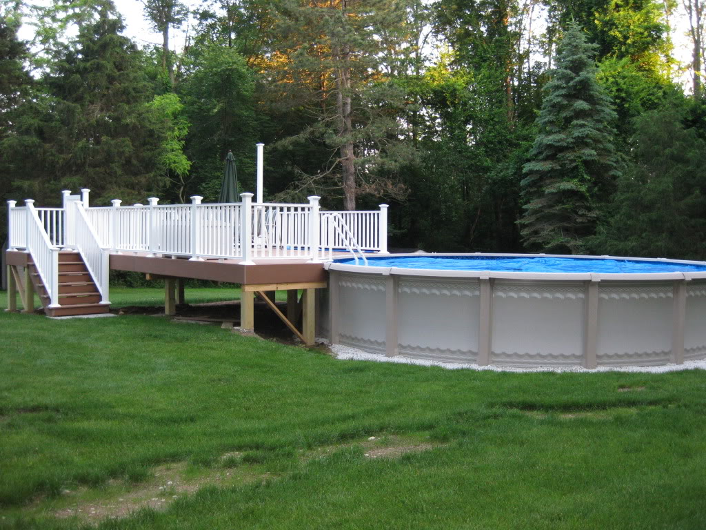 above ground pool deck design pictures