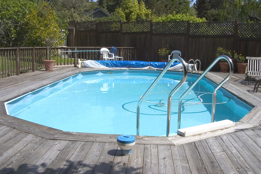 Image of: above ground pool decks designs