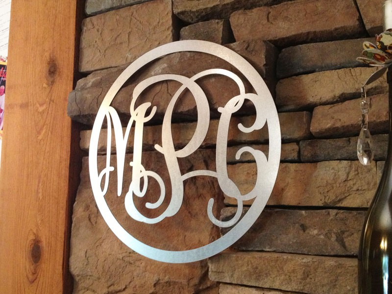 Image of: acrylic monogram wall decor