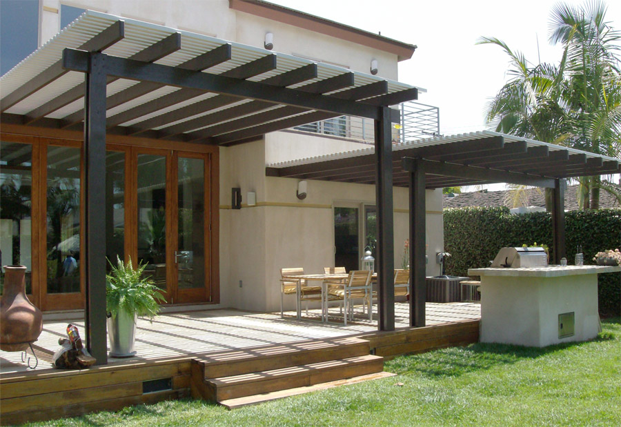 Image of: aluminum patio cover designs
