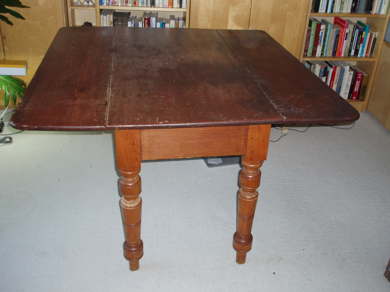 Image of: antique cherry drop leaf table
