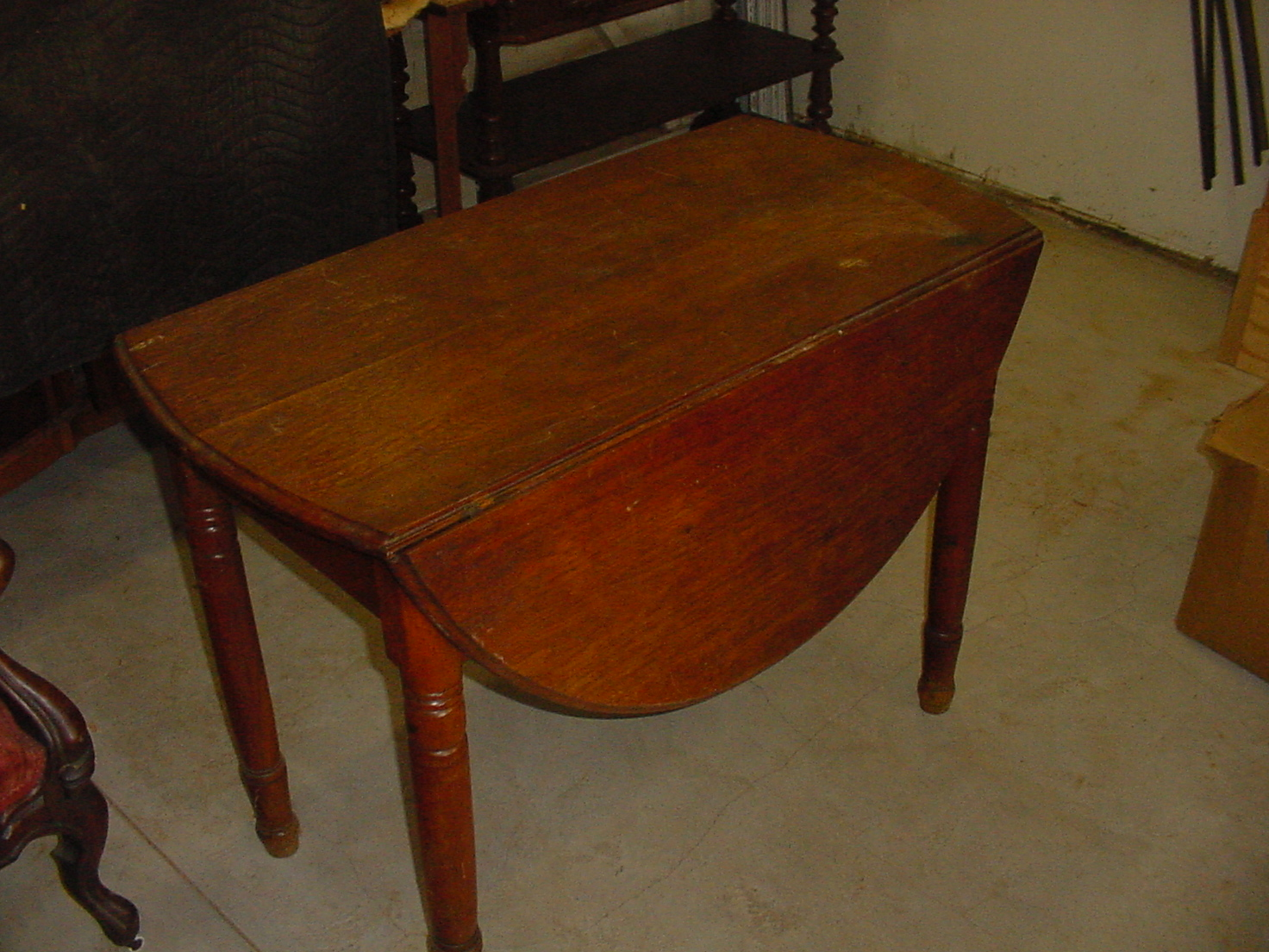 Image of: antique drop leaf kitchen table